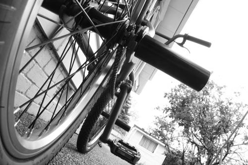 Matt's bmx that he will ride 110km for charity