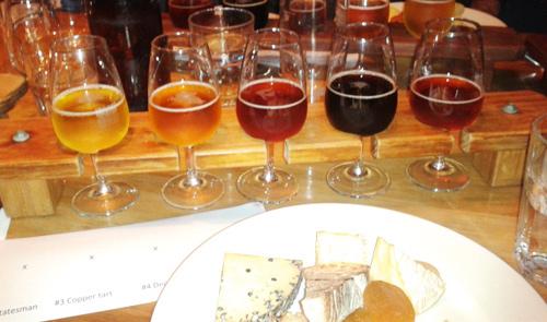 Hallertau tasting rack consists of five beers